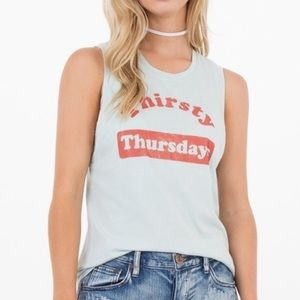 Icons of Culture Thirsty Thursdays Muscle Tank